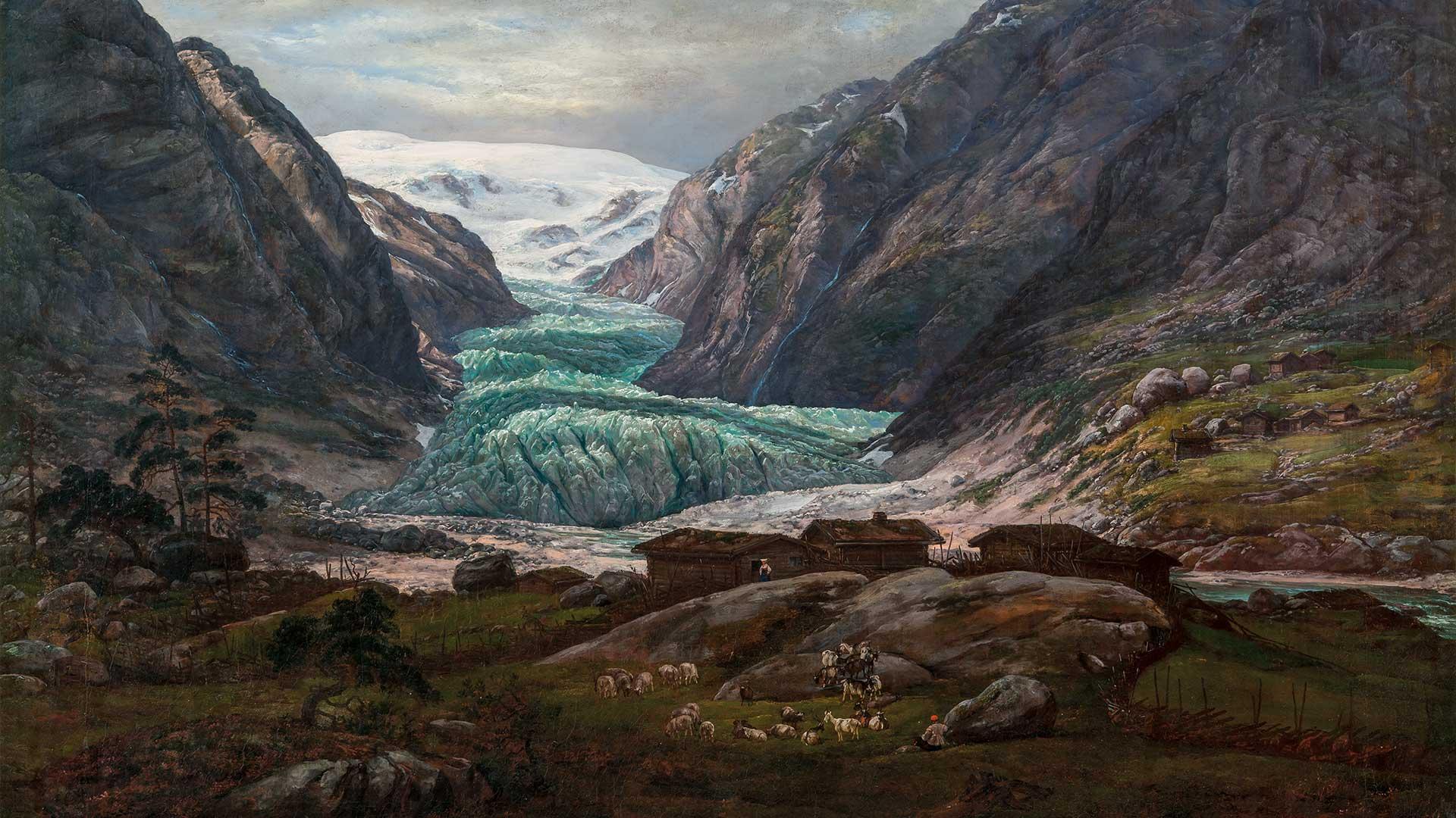 Maleri av Nigardsbreen